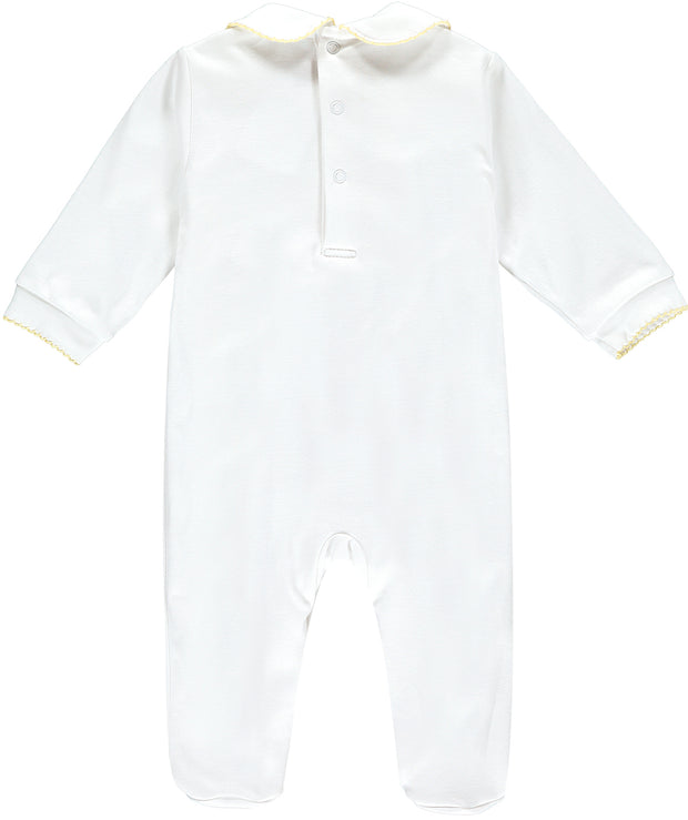 Ducks Hand-Embroidered Babygrow