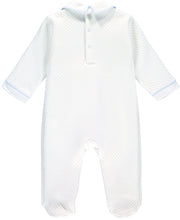 White Three Nursery Bears Quilted Babygrow