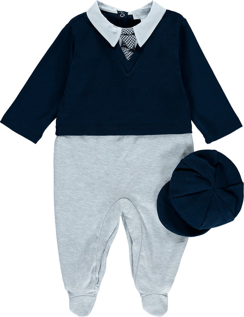 Baby Boys Babysuit and Hat Set