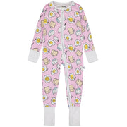 Baby Girls Pink Breakfast Buddies Sleepsuit