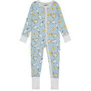Baby Boys Blue Breakfast Buddies Sleepsuit
