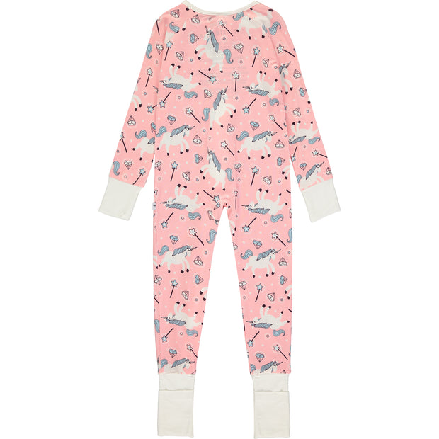 Baby Girl Unicorn Sleepsuit