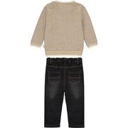 Baby Boys Brown Knitted Jumper