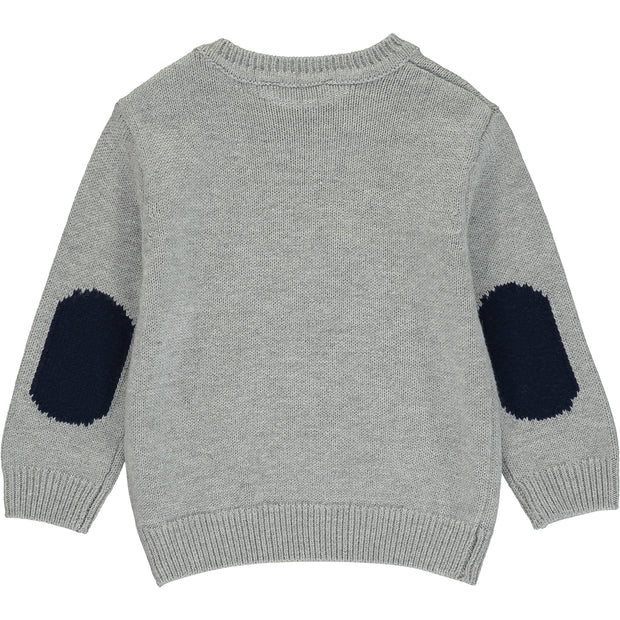 Baby Boy Grey Cotton Jumper