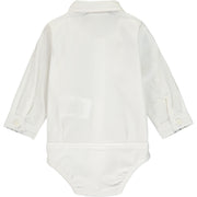 Baby Boy Ivory Shirt Bodysuit