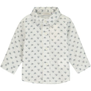 Baby Boy Teddy Printed Cotton Shirt