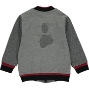 Baby Boy grey Zip-Up Top