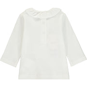 Baby Girl Ivory Cotton Top