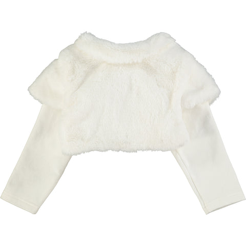 Baby Girls Faux Fur Cardigan