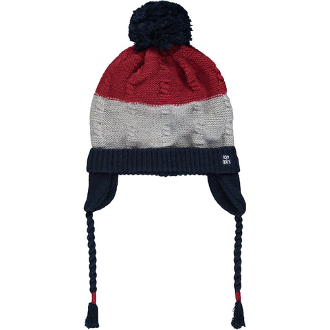 Red & Blue Knitted Hat