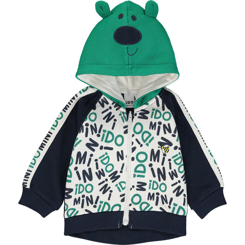 Baby Boy Zip-Up Hoodie Top and Trousers Set