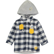 Baby Boy Cotton Zip-Up Hoodie
