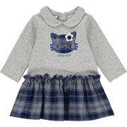 Baby Girls Grey and Blue Dress