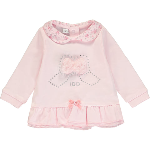 Baby Girl Pink Top and Leggings Set