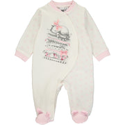 Baby Girl White and Pink Babygrow