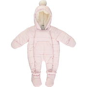 Baby Girl Pink Padded Snowsuit