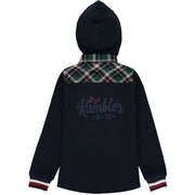 Blue and Green Check Hooded Shirt