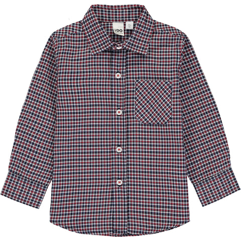 Red & Blue Checked Shirt