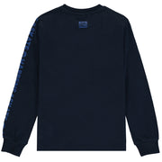 Boys Navy Blue Cotton Jersey Top
