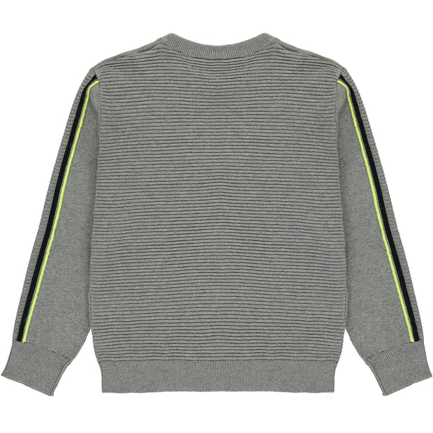 Boys Grey Cotton Jumper