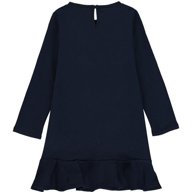 Girls Navy Blue Jersey Dress
