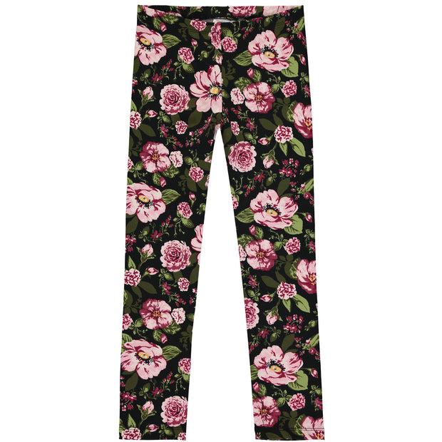 Girls Floral Cotton Leggings Set