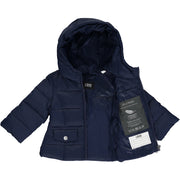 Girls Navy Blue Down Padded Coat