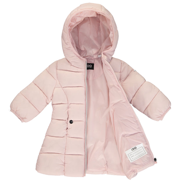 Girls Pink Padded Coat