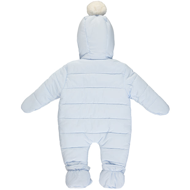 Blue Padded Baby Snowsuit