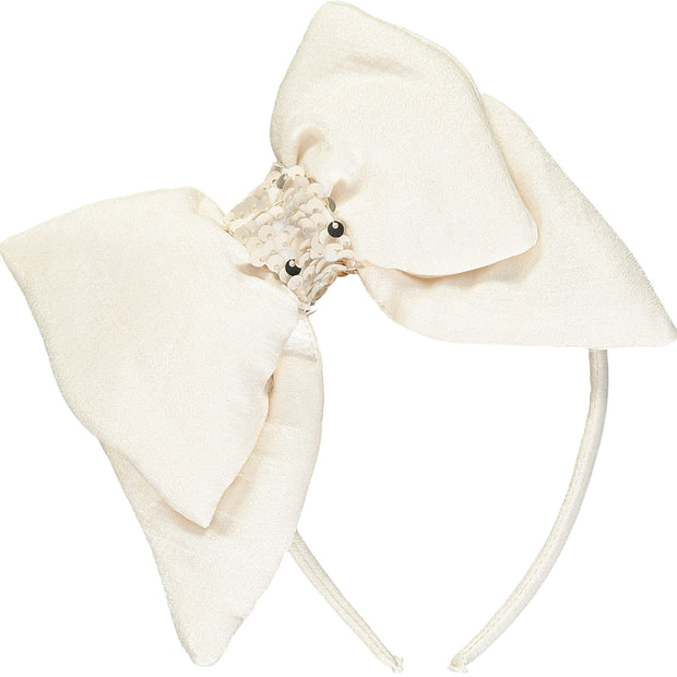 Cream Bow Hairband