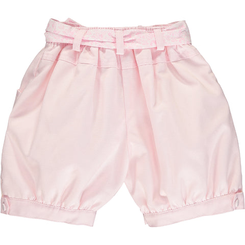 Girls Hand-Smocked Shorts Outfit Set