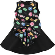 Girls Smart Black Dress