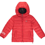 Boys Red Padded Puffer Jacket