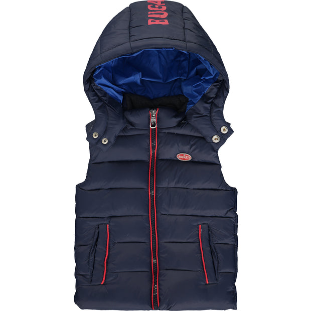 Boys Navy Blue Padded Gilet