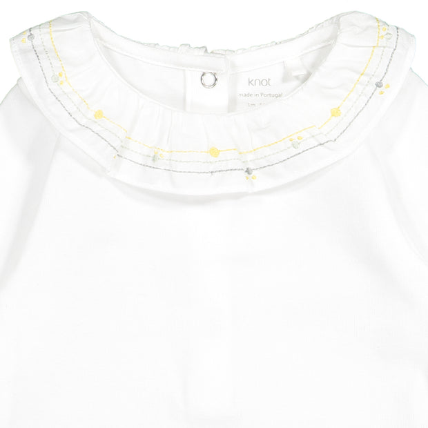 Baby Girls White Cotton Bodysuit