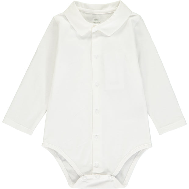 Baby Boys White Cotton Bodysuit