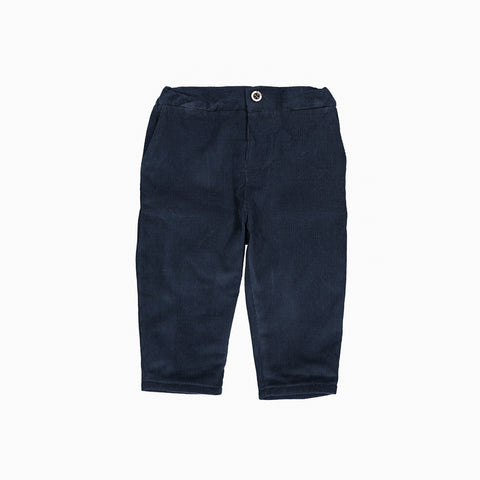 Baby Boys Navy Blue Cotton Corduroy Trousers