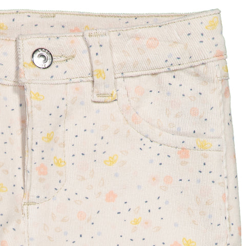 Girls Creamy Cotton Corduroy Trousers