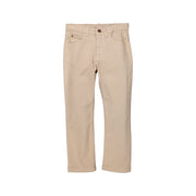 Boys Light Brown Cotton Trousers