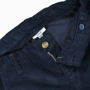 Boys Navy Blue Cotton Corduroy Trousers