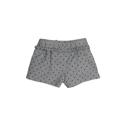 Girls Grey Cotton Shorts