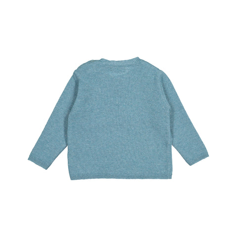 Baby Boys Stone Blue Knitted Wool Jumper
