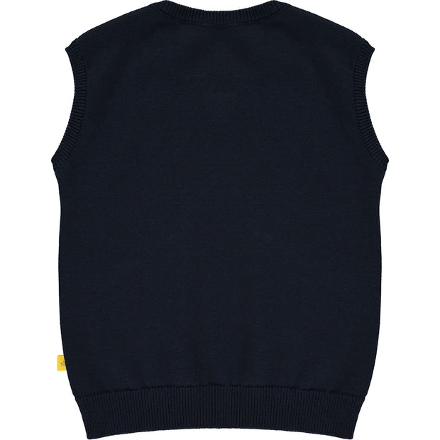 Boys Navy Blue Knitted Top