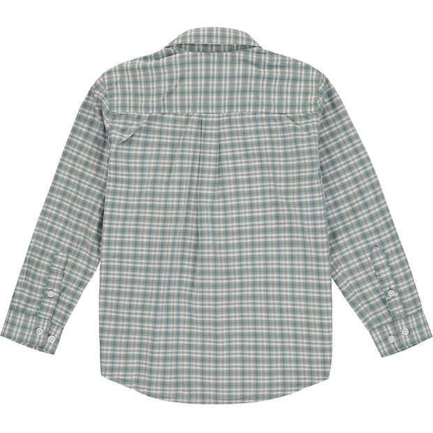 Boys Smart Green Check Shirt