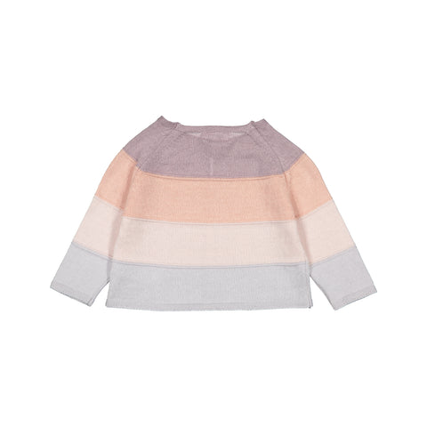 Baby Girl Striped Knitted Cotton Cardigan