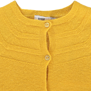 Baby Girl Yellow Knitted Wool Cardigan
