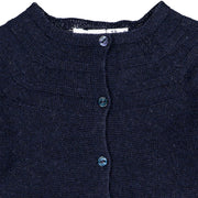 Navy Blue Knitted Wool Cardigan