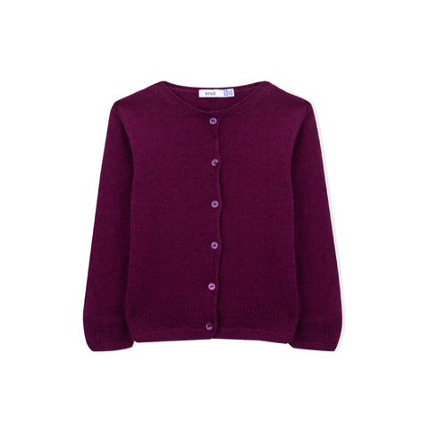 Girl Knitted Wool Cardigan