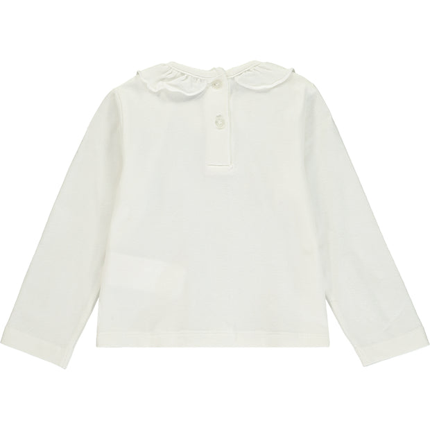 Girls White Cotton Top