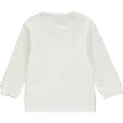 Boys White Cotton Top